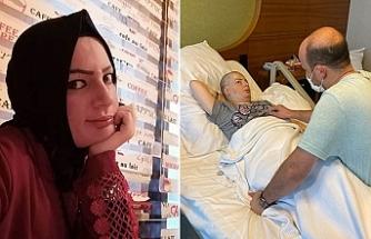 Beyninde tümör oluşan 2 çocuklu kadın yardım bekliyor