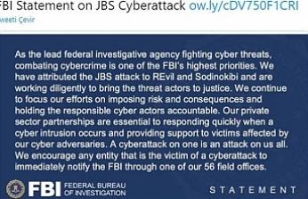 FBI: Siber saldırının sorumlularının adalete teslim edilmesi için çalışılıyor