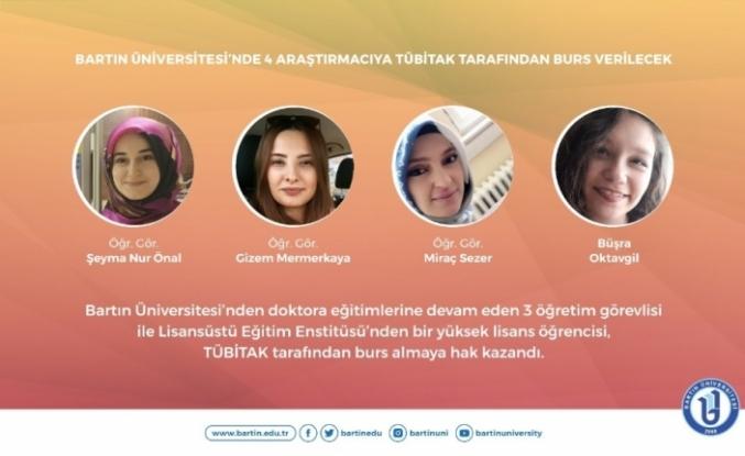 Bartın Üniversitesi'nden 4 araştırmacıya TÜBİTAK tarafından burs verilecek