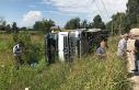 Osmangazi'de hafriyat kamyonu kazası