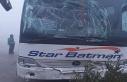 Bursa'da yolcu otobüsü kırmızı ışıkta...