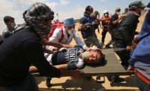 Katil İsrail ateş açtı...  Çok sayıda ölü ve yaralı var