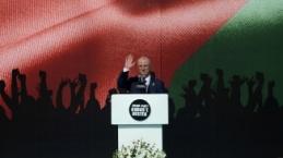 Filistin Başbakanı Hamdallah Yenikapı'da Kudüs mitinginde konuştu