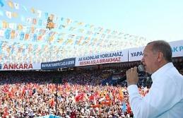 Cumhurbaşkanı Erdoğan Ankara mitinginde büyük projeleri bir bir sıraladı