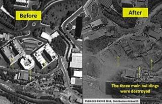 ABD'nin Suriye'de vurduğu noktaların uydu...
