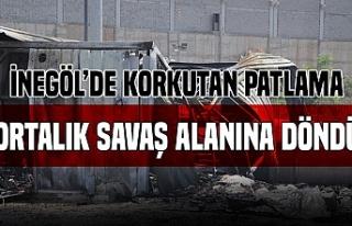 Bursa'da fabrikada korkunç patlama!