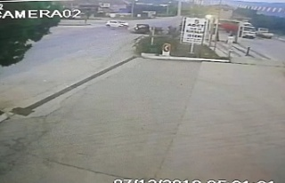Bursa'da zincirleme kaza kameralarda