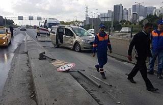 İstanbul'da akılalmaz kaza!