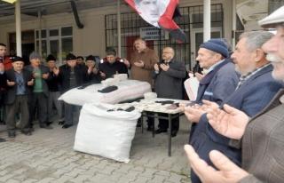 Bursa'da erkekleri çorap ören köyden Afrin için...