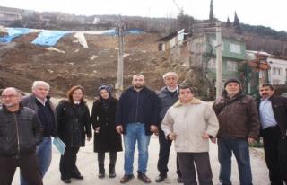 Bursa'da Mollaarap sakinleri heyelana kesin çözüm...
