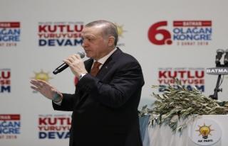 Cumhurbaşkanı Erdoğan Batman'da, 'Nefes alamayacak...
