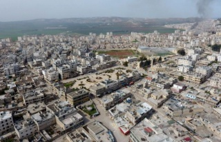 TSK'dan Afrin'in havadan görünümü