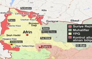 TSK Afrin'de teröristlerden temizlenen bölgeleri...