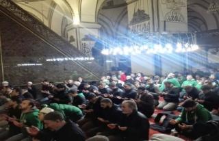 Bursasporlu taraftarlar Afrin için Mevlid okuttu