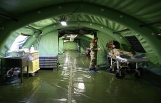TSK'den sınıra seyyar ilk yardım hastanesi
