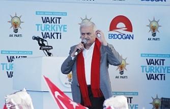 Başbakan Yıldırım'dan memleketi Erzincan'da veda konuşması