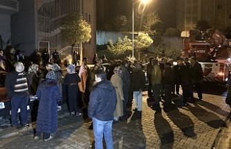 Bursa'da yangın paniği site sakinlerini sokağa döktü