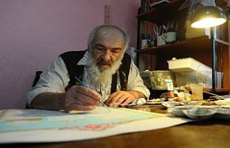 Türkâri sanatını evinde yaşatmaya çalışıyor