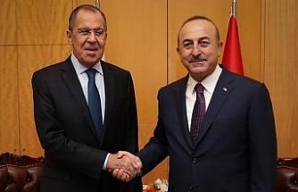 Çavuşoğlu, Sergey Lavrov ile görüştü