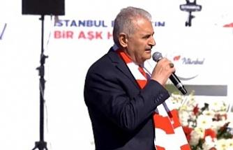 Binali Yıldırım 'Büyük İstanbul Mitingi'nde