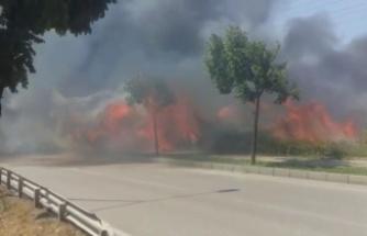 Küçük sanayi bölgesinde korkutan yangın!