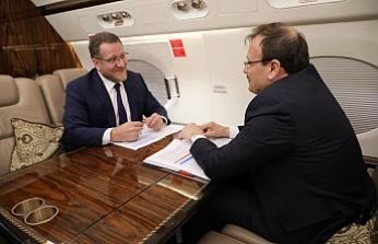 Başbakan Yardımcısı Çavuşoğlu ile Moğolistan yolunda özel röportaj