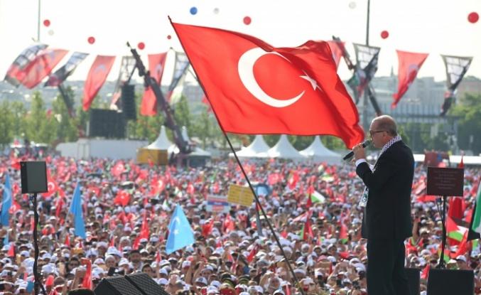 Cumhurbaşkanı Erdoğan Kudüs mitinginde yüzbinlere hitap etti