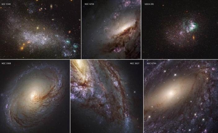 Hubble en yakın galaksileri görüntüledi