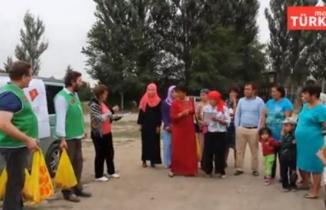 Bugün Kırgızistan'da imkansız ve ihtiyacı olanlara Türkiye tarafından Kurban Payları Dağıtıldı
