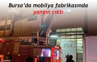 Bursa'da mobilya fabrikasında yangın çıktı