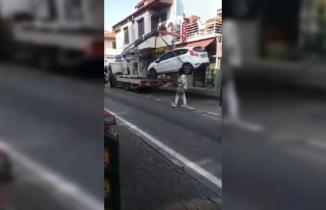 Çekicinin İş Kazası Kamerada