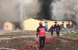 Sakarya'da patlama bölgesinden yeni görüntüler
